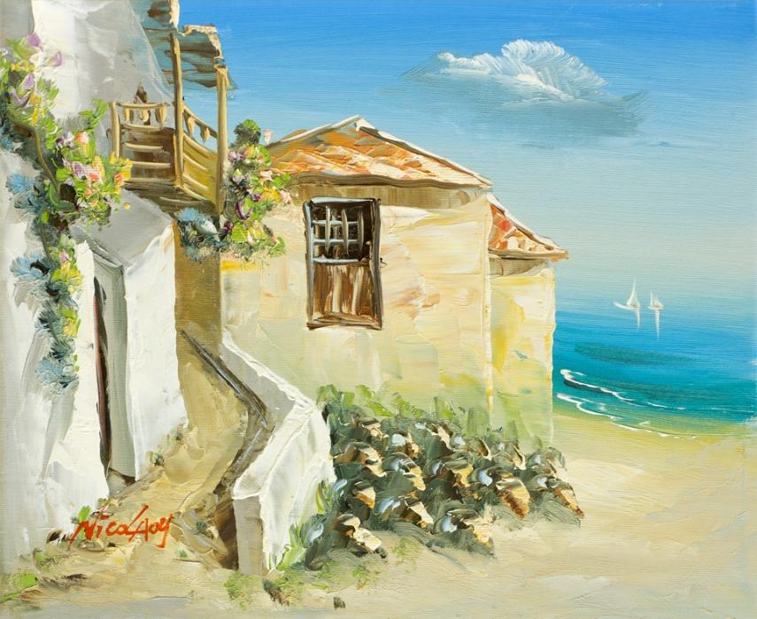 фото домик на море
