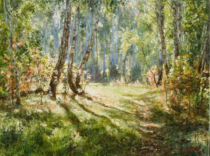 Сентябрь солнечная поляна светлый лес