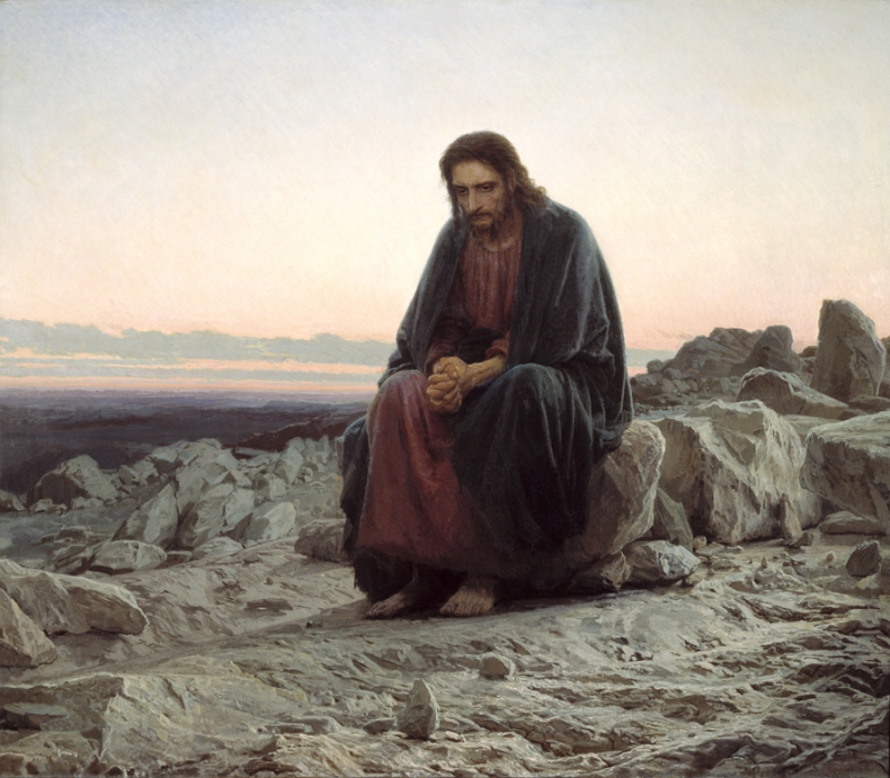 """""""Христос в пустыне""""  И.Н.Крамской"""